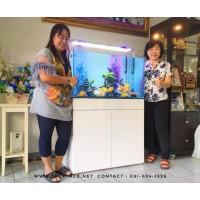 ตู้ปลาทอง ขาตู้ปลาเฟอร์นิเจอร์ (ฐานวาง) รุ่น Smooth Plus 90x45 cm. H:80 cm.